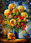Flowers Of Happiness by Leonid Afremov