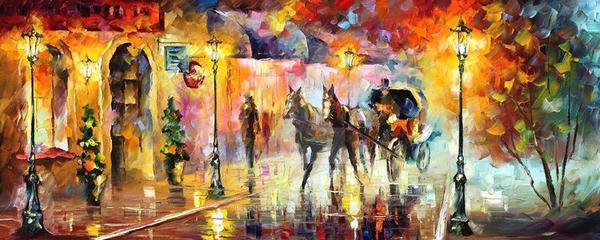 Carriage by Leonid Afremov by Leonidafremov