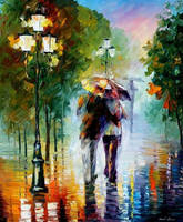 Gone With The Rain by Leonid Afremov by Leonidafremov