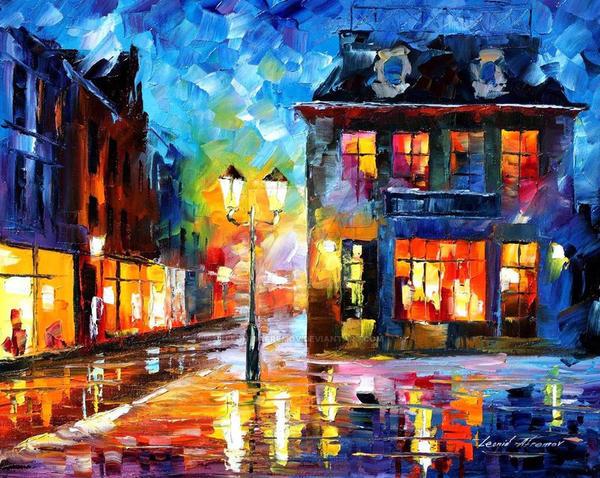 Night Of Expectation by Leonid Afremov by Leonidafremov