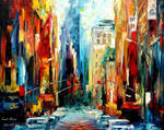 New York Early Morning by Leonid Afremov