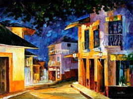 The Lights Of Southern Night by Leonid Afremov by Leonidafremov
