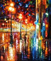 The Tempo Of The Rain by Leonid Afremov by Leonidafremov
