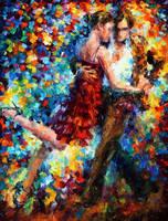Emotional Tango by Leonid Afremov by Leonidafremov