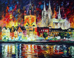 Night In Cologne by Leonid Afremov