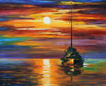 Calm Sunset by Leonid Afremov