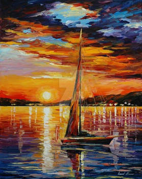 Sail In Sunset by Leonid Afremov