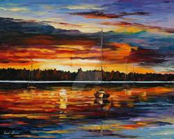Lake Dreams by Leonid Afremov by Leonidafremov