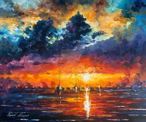 Flashing Lights by Leonid Afremov