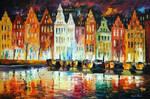 Amsterdam's Panorama by Leonid Afremov