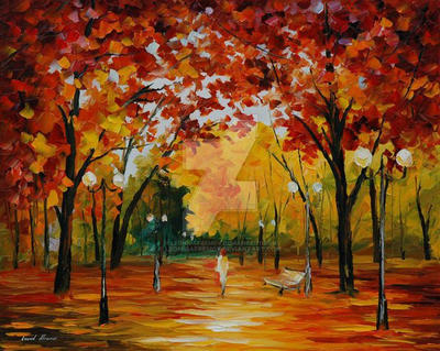 Flame Of Fall by Leonid Afremov