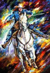 Rider by Leonid Afremov by Leonidafremov