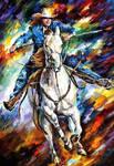 Rider by Leonid Afremov