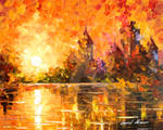 Castle By The River 3 by Leonid Afremov