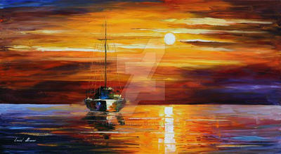 Sea Shadows by Leonid Afremov by Leonidafremov