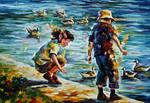 Childhood by Leonid Afremov