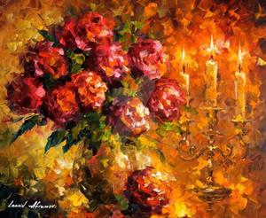 Roses And Candles by Leonid Afremov