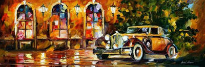 1934 Packard by Leonid Afremov by Leonidafremov