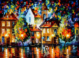 Luxembourg Night 2 by Leonid Afremov