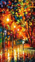 Long Alley by Leonid Afremov by Leonidafremov