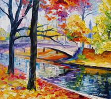 Color Bridge by Leonid Afremov by Leonidafremov