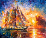 She Caught The Wave by Leonid Afremov