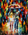 Under The Downpour by Leonid Afremov