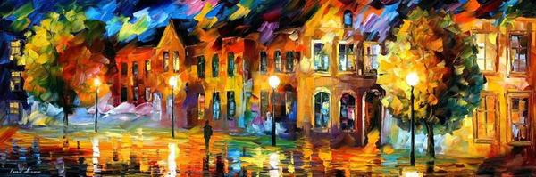 The Reflection Of The Night by Leonid Afremov by Leonidafremov
