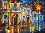 Under Umbrella by Leonid Afremov