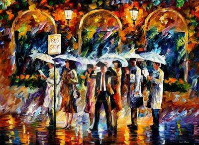 Bus Stop by Leonid Afremov