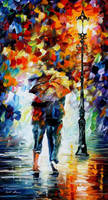 Lovers Under One Umbrella by Leonid Afremov