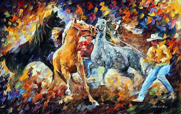 Subdual by Leonid Afremov by Leonidafremov