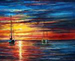Love At Sea by Leonid Afremov