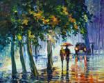 Rainy Stroll by Leonid Afremov
