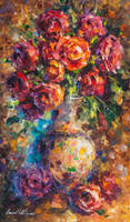 Romantic Roses by Leonid Afremov