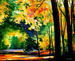 Morning Forest 1 by Leonid Afremov
