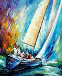 Regatta - Wind by Leonid Afremov