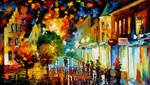 Night Attraction by Leonid Afremov