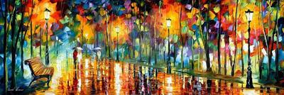 Midnight Walk by Leonid Afremov by Leonidafremov
