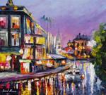 Purple Amsterdam by Leonid Afremov