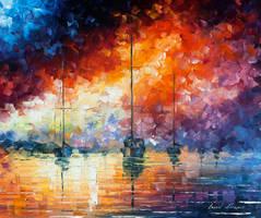 Dramatic Sunrise by Leonid Afremov