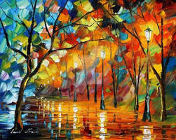 Blue Of The Fire by Leonid Afremov
