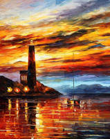 By The Lighthouse by Leonid Afremov