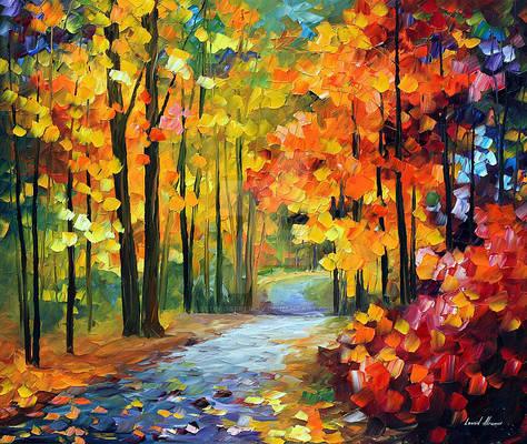 Red Fall 1 by Leonid Afremov