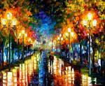 Under Brown Umbrella by Leonid Afremov