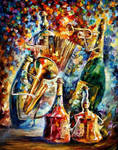 Bottles and Music by Leonid Afremov
