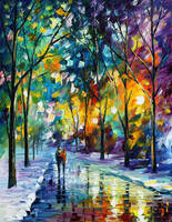Frozen Path by Leonid Afremov