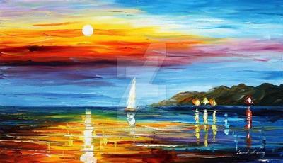Florida Sunset by Leonid Afremov by Leonidafremov