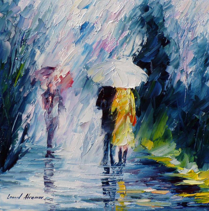 Rain And Friends by Leonidafremov