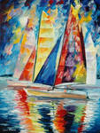 Wind In Sails by Leonid Afremov